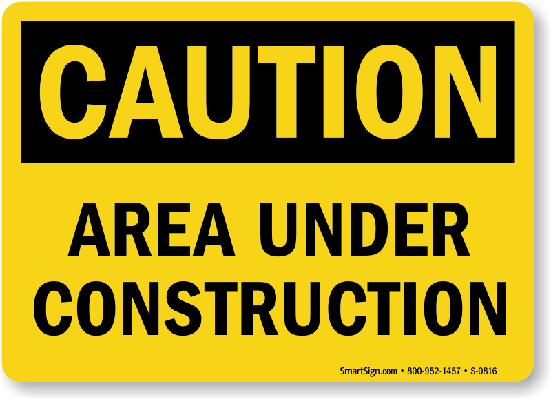 under construction caution sign s 0816